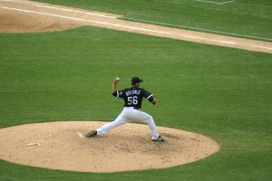 Mark Buehrle pitching a perfect game
