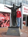 Bill Shankly statue and I