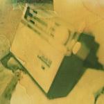 Polaroid image of a portable radio