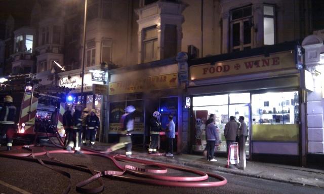 Fire at Charlton Church Lane