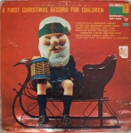 Weird santa on old record cover