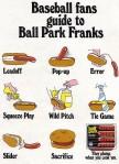 Retro hotdog/baseball advert