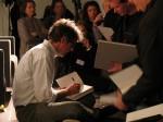 Jonathan Franzen signing books