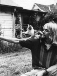 Kurt Cobain with a cat