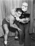 Ray Steele and Popeye wrestling