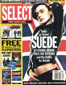 Suede on the cover of Select Magazine, April 1993