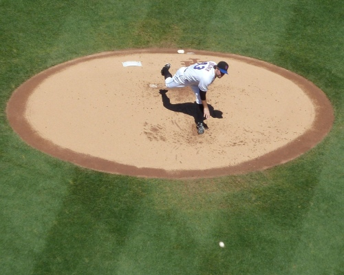 R.A. Dickey pitching, and being awesome and stuff