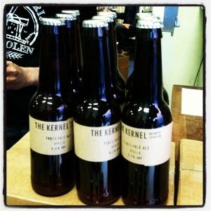 Kernel beer bottles