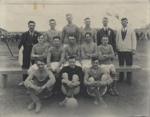 Old football team photo