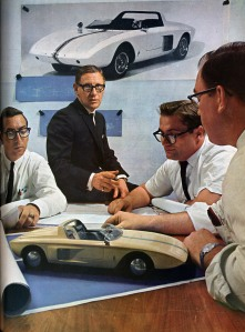 Men with prototype of car