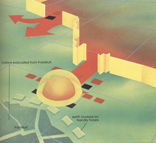 Image/diagram from the early eighties of nuclear bunkers in Germany