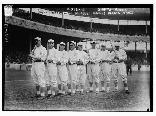 New York Giants on Opening Day 1913