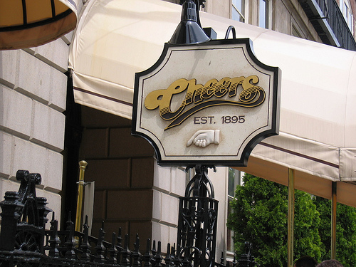 Cheers bar sign