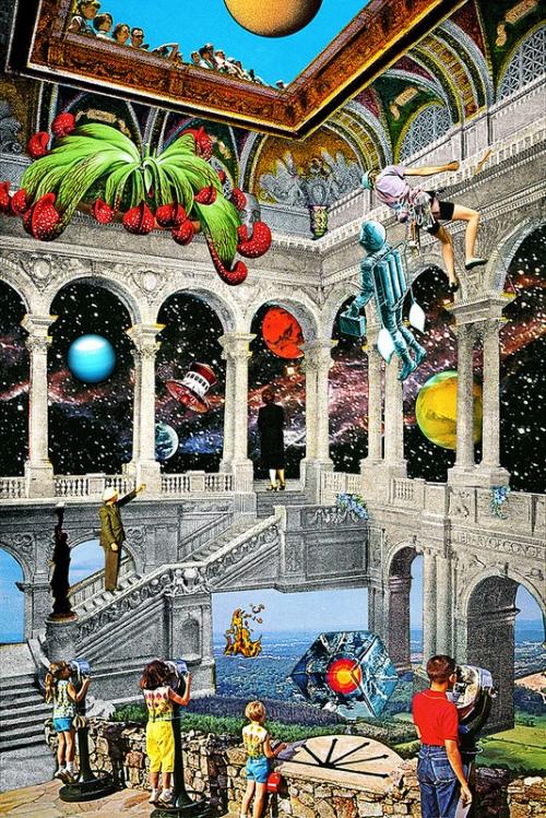 Strange space-y collage