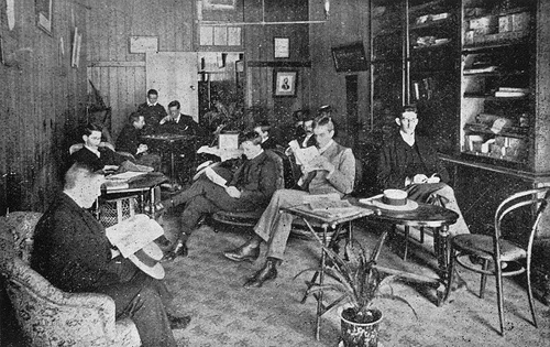 Men in Reading Room