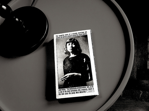 Joan Didion book on a table