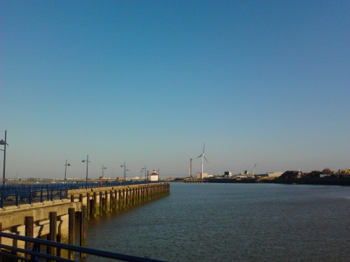 View from pier