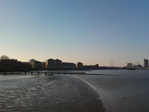 Flats from pier
