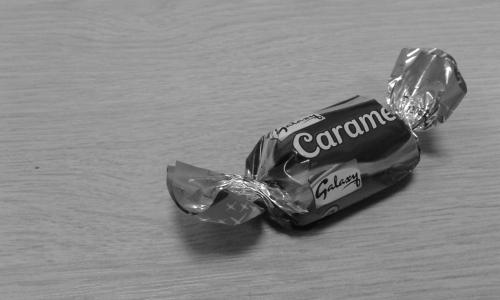 Small chocolate on desk