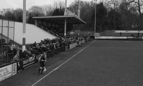 Crowd watching Erith and Belvedere playing North Shields
