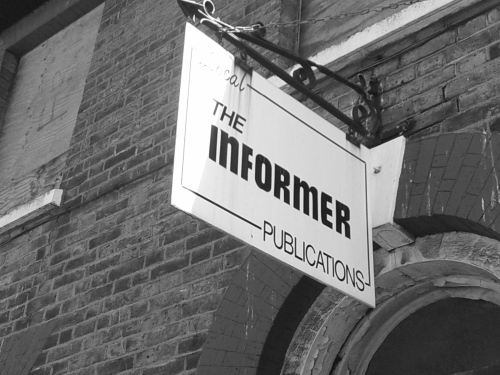 The Informer local publications sign, Dartford