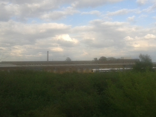 depot, power station, sky