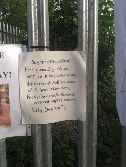 'Neighbourhood Watch' notice