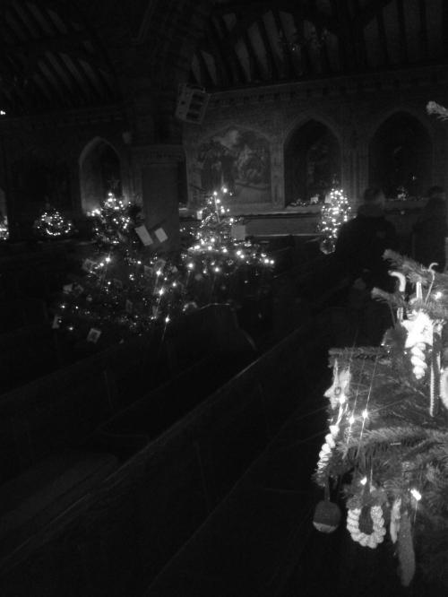 Trees in church