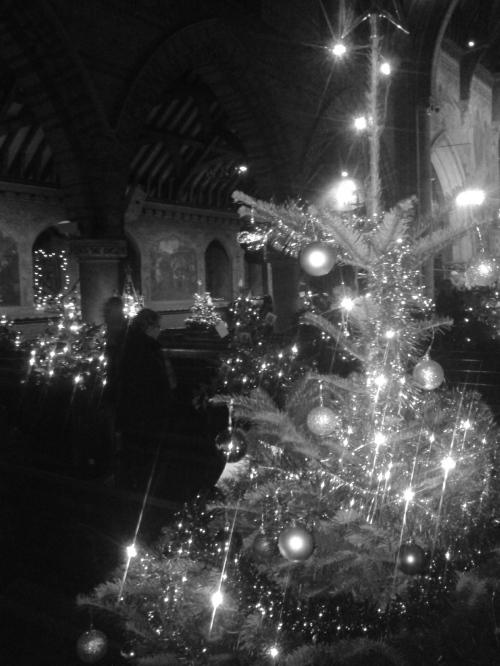 Tree in church