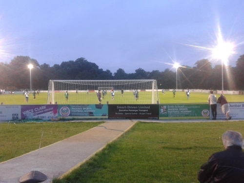 Behind the goal, Phoenix Sports vs Erith and Belvedere