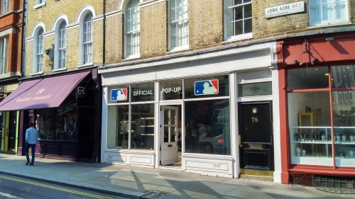 Exterior of MLB pop-up in London