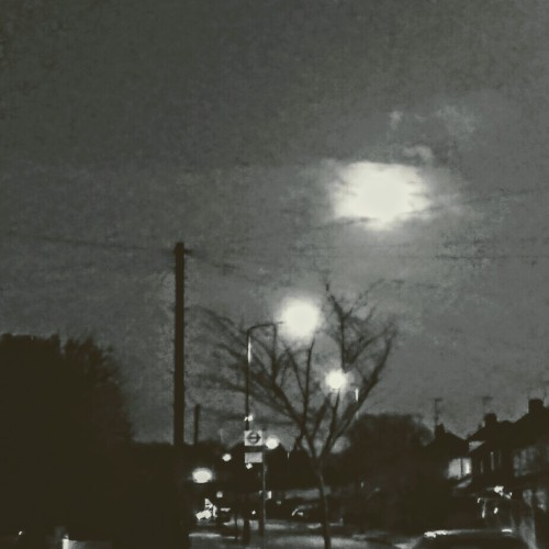 Bad photo of the moon